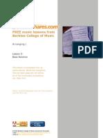 Berklee Arranging Bass Notation