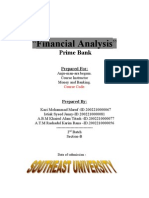 Financial Analysis PRIME BANK