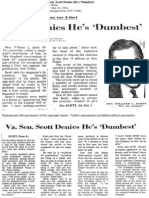 "Scott denies he's ""dumbest"""