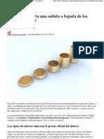 ¿Cómo nos afecta una subida o bajada de los tipos de interés