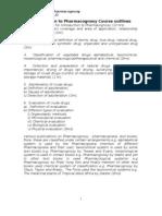 Introduction to Pharmacognosy