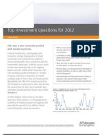 Top Investment Questions for 2012