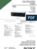 Sony Cdx-gt35u Gt39u Gt39ue