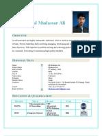 Mudassar CV 2013