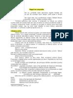 Reguli de Compozitie - Jurnalism