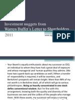 Warren Buffet's Letter to Shareholders_2011