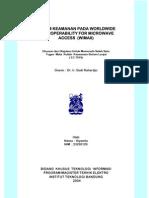 SISTEM KEAMANAN PADA WORLDWIDE  INTEROPERABILITY FOR MICROWAVE                ACCESS  (WiMAX)