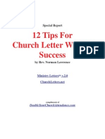 12 Church Letter Tips