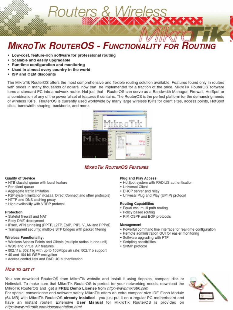 Mikrotik Router OS | Router (Computing) | Firewall (Computing)