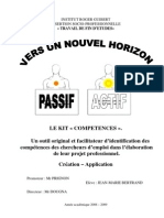 000 Rapport de TFE Juin 2009 Version Mai 2009 03 LE KIT COMPETENCE