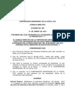 Acuerdo CD 395 Modificacion Calendario Academico Periodo 2013-1 (Dia Unico)