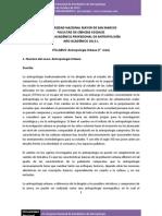 Sílabo de Antropología Urbana (2013-1) [Golte, Jacinto] - Escuela de Antropología, Universidad Mayor de San Marcos