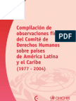 Compilación de observaciones finales del Comité de Derechos Humanos sobre países de América Latina y el Caribe (1977 - 2004)