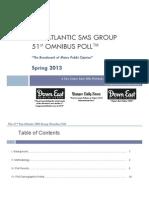 SMS Pan Atlantic - 51st Omnibus Poll - Spring 2013 (Final)