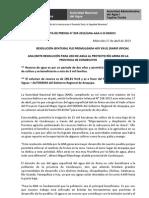 BOLETÍN DE PRENSA N° 035-2013