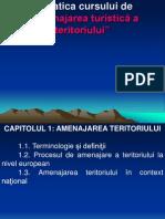 Tematica Cursului de Amenajare Tur. a Ter.