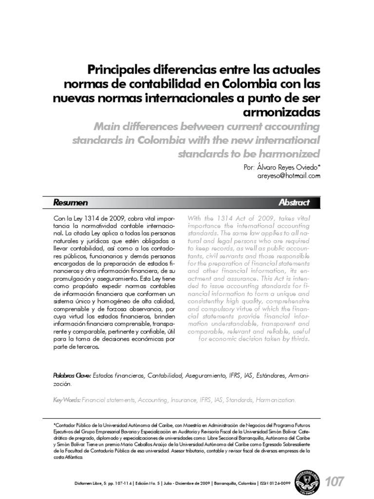 Comparativo Normas Colombianas NIIF