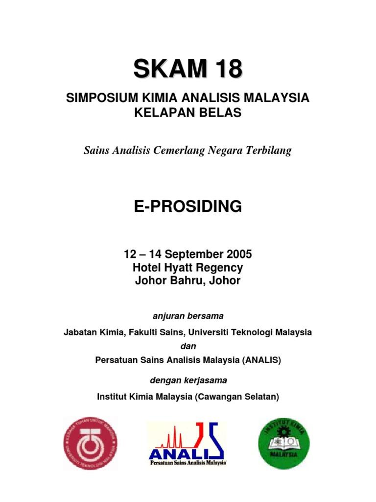 Lisan Prosiding Simposium Kimia Analisis Malaysia Ke 18 2005 Gudang Garam Filter 12 Batang Gp Garpit International