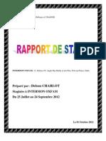 Modèle de Rapport de stage préparé par Delson CHARLOT