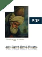 400 Rumi Short Poems English