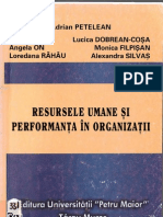 2003 Adrian Petelean - Resursele Umane Si Performanta in Organizatii
