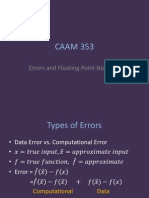 CAAM 353 -Errors and Floating Point Notation 17pp