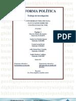Investigación Reformas Políticas