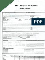 Ficha de inscrição da Smartservice