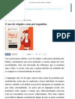 O uso da vírgula e seus pré-requisitos - Português