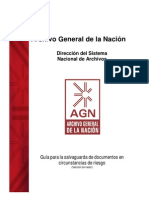 Guía para la salvaguarda de documentos AGN