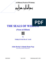 Fusus Al-Hikam _Pearls of Wisdom_ by Ibn-Al-Arabi