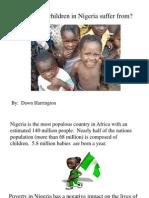 Childre in Nigeria Suffers