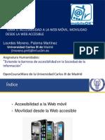 Tema 5 Accesibilidad a La Web Movil. Movilidad Desde La Web Accesible Formato Ppt