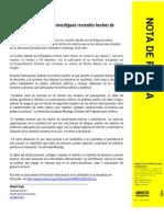 Nota de prensa Amnistía Internacional violencia post electoral Venezuela