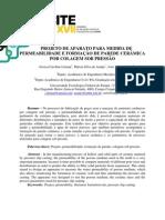 PROJETO DE APARATO PARA MEDIDA DE PERMEABILIDADE E FORMAÇÃO DE PAREDE CERÂMICA POR COLAGEM SOB PRESSÃO - para mesclagem