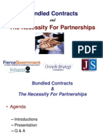 Government Contracting - Bundled Contracts & Partnerships
