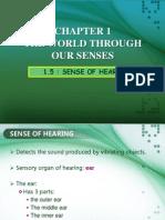 1.5 Sense of Hearing