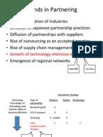 Trends in Partnering