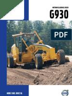 Manual Motoniveladora Volvo G930