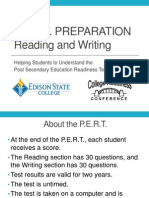College Readiness Pert Prep Reading Writing