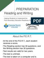 College Readiness Pert Prep Reading Writing