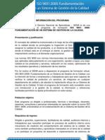 INFORMACIÓN DEL PROGRAMA ISO 9001-2008  MÓDULO 1