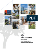 City Of Oakland FY 2013-2015 Proposed Policy Budget