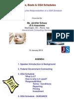 Babies, Boats & GSA Schedules - Understanding The Responsibilities of a GSA Schedule