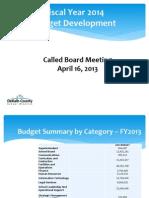 DCSS FY 2014 Budget Development Presentation