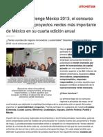 Cleantech Challenge México 2013, el concurso de empresas y proyectos verdes más importante de México