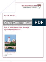 Harvard Crisis Communication
