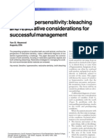 2002 Dentine Hypersensitivity Bleaching and Restorative Considerations for Successful Management