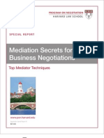 Harvard Mediation Secrets