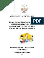 Plan de Kioskos y Loncheras 2013